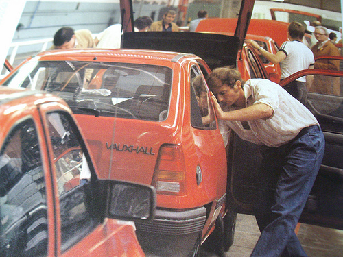 Vauxhall assembly line